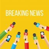 Breaking news flat style vector illustration