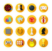 Vector game flat icon set