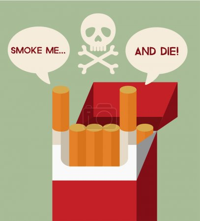 Stop smoking vector flat illustration
