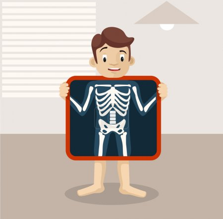 Vector x-ray flat illustration
