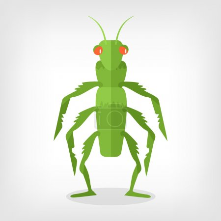Illustration for Vector grasshopper flat illustration - Royalty Free Image