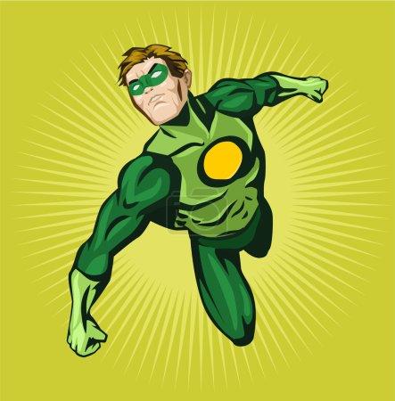 Vector superhero comic illustration