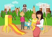 Playground vector flat illustration