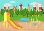 Playground. Vector flat illustration