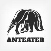 Anteater Vector black illustration