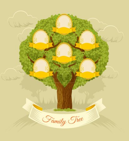 Family tree. Vector flat illustration