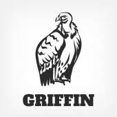 Bird vulture icon Vector black outline icon illustration