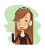 Support manager icon Vector cartoon flat illustration