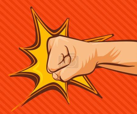 Vector fist flat illustration