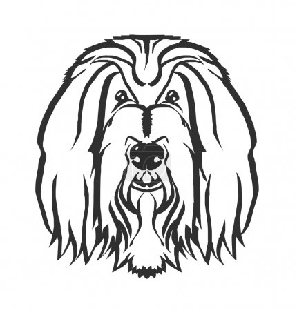 Dog head vector black logo icon illustration