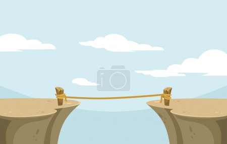 Illustration for Abyss. Vector flat banner illustration - Royalty Free Image