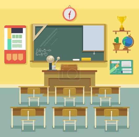 Illustration pour Salle de classe. Illustration vectorielle plate - image libre de droit