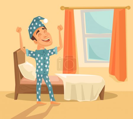 Illustration for Good morning. Vector flat illustration - Royalty Free Image