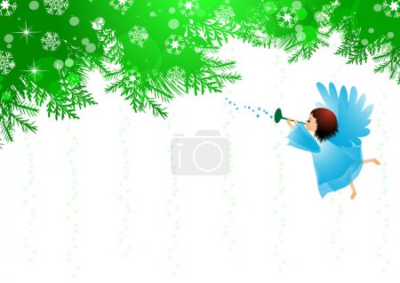 Angel and Christmas background