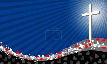 Cross Background- Love concept- Vector illustration
