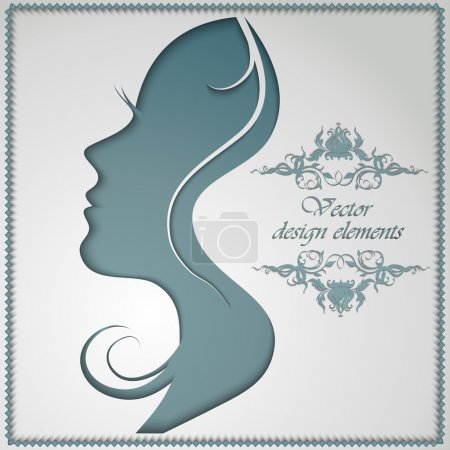 female silhouette cut out of paper