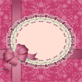 Gift card with lace ribbons silk bow