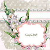 Beautiful vintage card with a hand painted flower