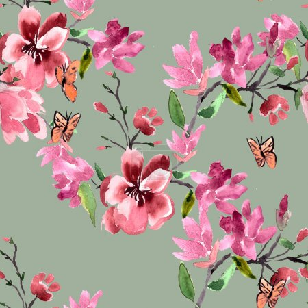 magnolia flowers Pattern
