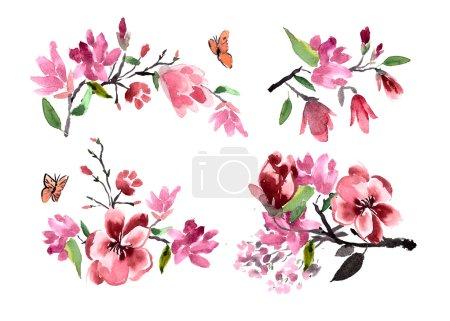 magnolia flowers Pattern