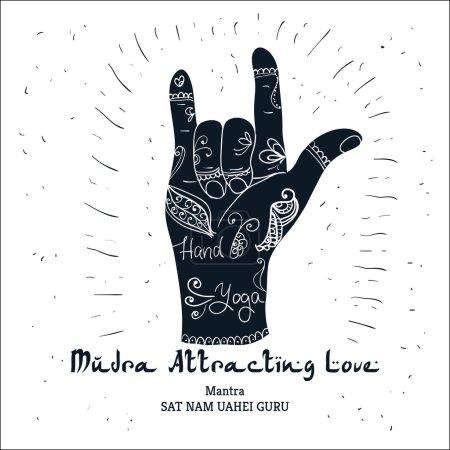 Element yoga Mudra attracting love hands