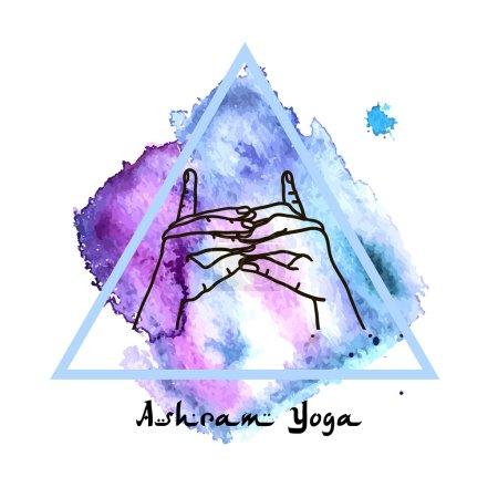 Female yoga hands Element postcard...