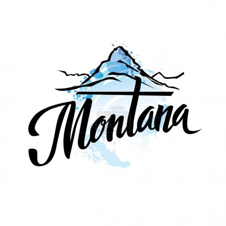 Vintage Montana USA State Stamp