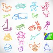 Variety of children's toys