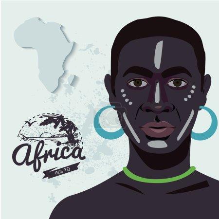 Ethnic african man