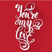 brush lettering for print card invitation