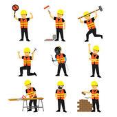 Stavební inženýr pracovník Builder Set dvou