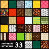 Big set of 33 seamless vector patterns