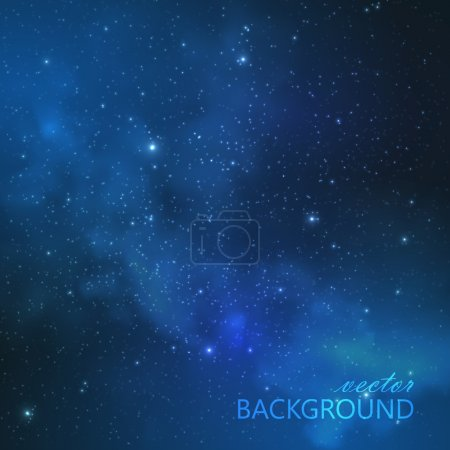Illustration for Abstract vector background with night sky and stars. illustration of outer space and Milky Way - Royalty Free Image