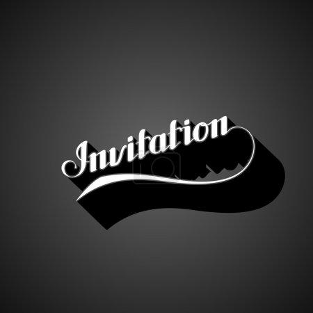 Vector typographic illustration of handwritten Inv...