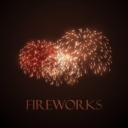 Holiday illustration of fireworks