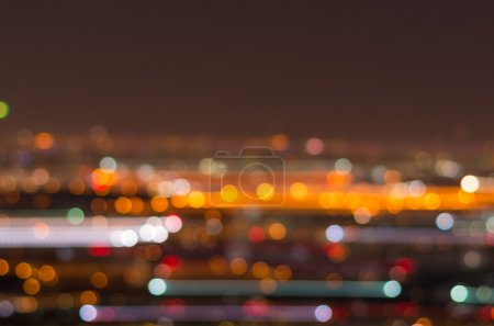 Blurred motion Photo bokeh of cityscape