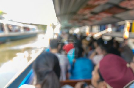 Photo for Abstract blurred photo of express boat, transportation background concept - Royalty Free Image