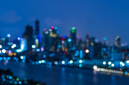 bangkok cityscape at twilight