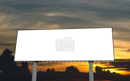 Photo for Blank billboard on beautiful sky at twilight time - Royalty Free Image