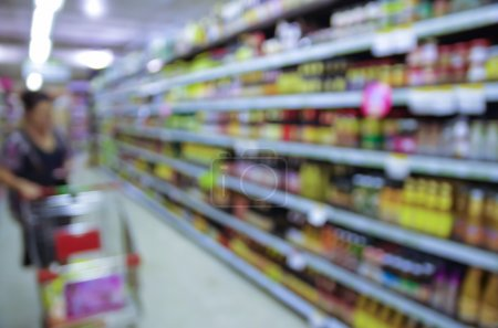 Abstract blurred photo of store