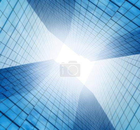 Photo pour Verre de bâtiments d'affaires moderne de gratte-ciels, concept d'architecture d'entreprise - image libre de droit