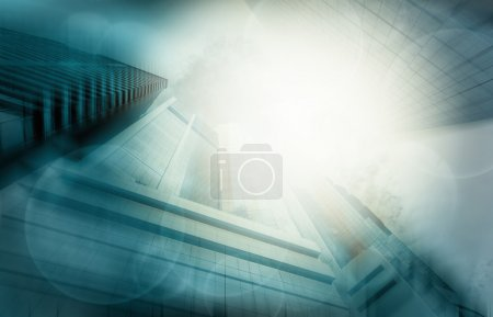 Photo for Modern business buildings glass of skyscrapers, Business concept of architecture - Royalty Free Image