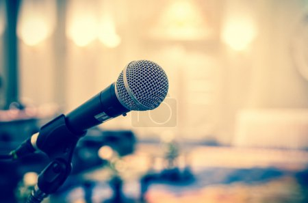 Microphone in conference hall