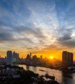 Bangkok cityscape at sunrise