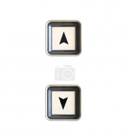 Elevator Button up and down direction on white background