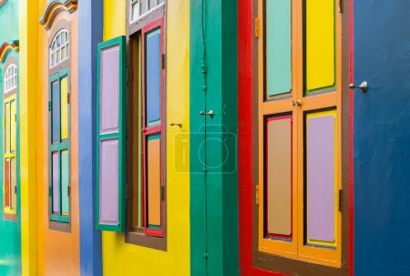 Colorful windows and doors from singapore