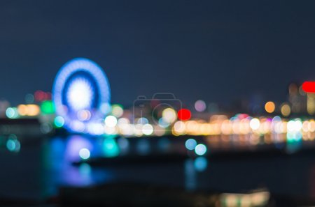 Bangkok cityscape at twilight time, Blurred Photo bokeh