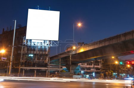 Photo for Blank billboard for advertisement at twilight time - Royalty Free Image