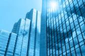 """Постер, картина, фотообои """"Современный бизнес здание стекло небоскребов, Бизнес концепция"""""""