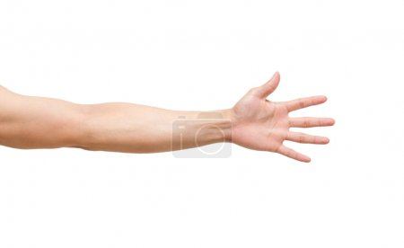 Man hands on white background,include clipping path
